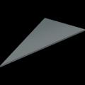 Plaque de verre (triangulaire)