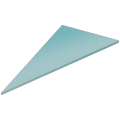 Pane of glass (triangular)