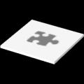 Platte 0,5 x 0,5 m, Rückseite: Weiß