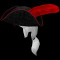 Tricorne dengan Bulu