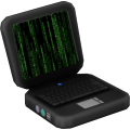 "Laptop ""Matrix heavy"""