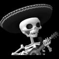 PNG Guitariste Squelette