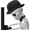 NPC Skeleton Piano Player