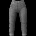 Calças de cintura alta cortadas