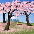 Bunga merah muda