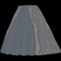 Longue, large jupe