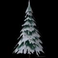 Großer verschneiter Baum