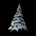 Árbol nevado medio
